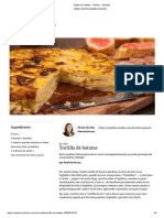 Tortilla de Batatas - Paladar - Estadão