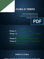 1. Clima e Tempo