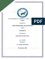 Tarea 7 de Etica de Sicologo. Marlineza