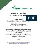 Common Law and Economic Efficiency