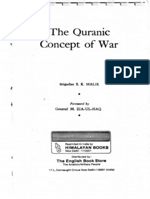 Quranic Concept Of War Notes By Don Mccurry Before 911pdf