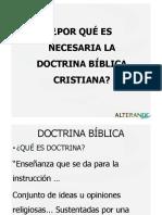 Por qué es necesaria la Doctrina Bíblica Cristiana
