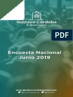 Encuesta Córdoba&Asoc  Nacional Junio2019