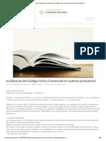 Incidencia Del Código Civil y Comercial en Materia Probatoria