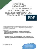 Exposicion a Contaminantes Atmosfericos en Ambientes Intramurales En