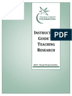Instructors Guide to Teaching Research by Massage Therapy Foundation