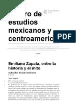 El héroe entre el mito y la historia - Emiliano Zapata, entre la historia y el mito - Centro de estudios mexicanos y centroamericanos