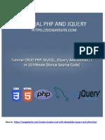 Build CRUD PHP, MySQL, JQuery and AdminLTE in 10 Minutes (Bonus Source Code)