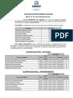 11- Edital de Divulgação Da Classificação Final