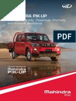 Mahindra PikUp New Car Warranty
