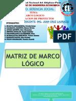 Gerencia Social Marco Logico y Formulacion de Proyectos Final