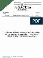 Ley 291 Ley Básica de Salud Animal y Sanidad Vegetal y Su Reglamento Reformada Con Ley 881