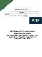 MEMORIA DESCRIPTIVA DE  INST. SANITARIAS 0k.doc