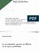 Friedrich Katz - Condiciones de trabajo en las haciendas de México durante el porfiriato, modalidades y tendencias.pdf