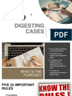 How to Digest Cases