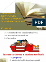 Communicative Activities Textbooks