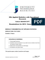 Fundamentals of Applied Statistics