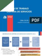 Plan de Trabajo Cartera de Servicios