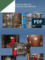 Proceso de Rescate y Organizacion Documental