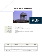Overhead Water Tank- Structural Analysis Report