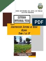 Estudio TEsa Construccion de Riego Rejara