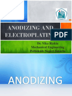 Anodizing and Electroplating