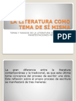 La Literatura Como Tema de Si Misma (2)