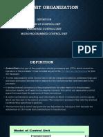 CONTROL UNIT ORGANIZATION ( COA)