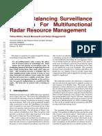 A Load Balancing Surveillance Algorithm For Multifunctional Radar Resource Management.pdf