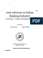 New Reforms in the Indian Banking Industry