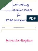 8086 instruction format