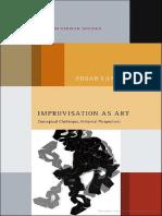 Improvisation as Art- Conceptual Challenges- Historical Perspectives Авторы- Edgar Landgraf