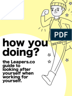 how you doing? the leapers.co guide to looking after yourself, when you work for yourself.