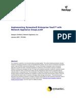 Implementing Symantec EV With NetApp Snaplock