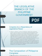The Legislative Branch of the Philippine Government