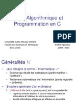 155113691 Cours Algorithmique Et Programmation en C