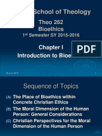 Ch I - Introduction to Bioethics
