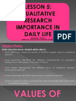 Lecture 5 Qualitative Research Importance in Daily Life