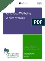 Wellbeing CWRC Briefing Paper