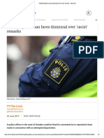Swedish Policeman Faces Dismissal Over 'Racist' Remarks - The Local