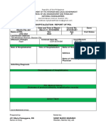Hospitalization Report Form