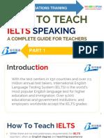 Part 1 - How to Teach IELTS Speaking
