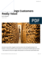 The 30 Things Customers Really Value