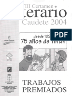 "VIII Certamen Literario ""Evaristo Bañón"" Caudete 2004"