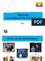 Myanmar Land of Opportunity and Challenges