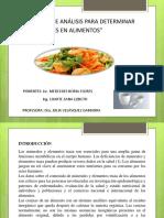 DETERMINACIÓN DE MINERALES