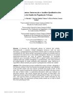 Cidades Inteligentes- Intersecção e Análise Qualitativa Dos Dados Da Saúde Da População Urbana