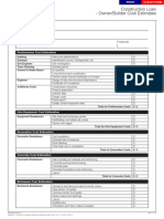 Residential ConstructionLoan CostEstimateWorksheet