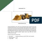 PANDUAN PPTBT Underground Mining Loader R1700G