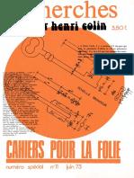 Cahiers Pour La Folie
